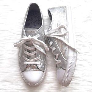 Gotta Flurt Sequin Low Top Sneakers Silver 10